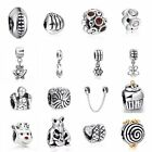 Hot 925 Silver Charm Pendant Bead Fit European Sterling Bracelet Safety Chain CA