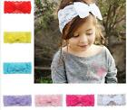 Baby Toddler Girl Kids Lace Bow Knot Turban Headband Hair Band Head Wrap