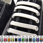 16Pcs Colorful Unisex No Tie Shoelaces Silicone Elastic Sneaker Lazy Shoe Laces