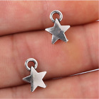 18 pcs Antiqued Silver Diy Jewelry Accessories Small Star Charm Pendants Hot