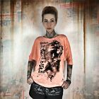 Neues Yakuza Damen Taste The Blood Shirt Longsleeve - Papaya Punch