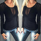 Womens Summer Vest Top Long Sleeve Blouse Casual Tank Tops T-Shirt UK 8-24 NW