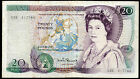 Real bank of england currency £20 twenty pound banknotes 1970 1981 1984 1988