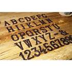 House Door Alphabet Letters & Numbers Cast Wrought Iron Black Antique