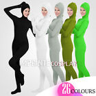 Unisex Lycra Spandex Unitard Full Body Open Face Long Sleeves Full Foot Elastane