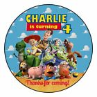 Toy Story Birthday Party Favor Personalized Round Labels Stickers