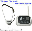 Electronic Shock Pet 1/2/3 Dog Fence Wireless Waterproof Containment System