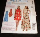 McCalls 7405 MP351 Gathered-Neckline Dress with Ties & Belt Maxi Midi Sewing