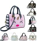 Betsey Johnson Mini Barrel Purse Crossbody Satchel Bag Stripes Stud Flower Bows