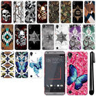 For HTC Desire 530 630 Butterfly Design HARD Back Case Phone Cover + Pen