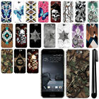 For HTC One A9 Aero Butterfly Design HARD Back Case Phone Cover + Pen
