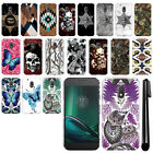 "For Motorola Moto G4 Play 5"" XT1607 XT1609 Butterfly HARD Back Case Cover + Pen"