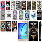 For Samsung Galaxy On5 G550 G500 Butterfly Design HARD Back Case Cover + Pen