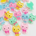 Upick New 20/100pcs Cat  Resin Flatback Flat Back Craft Embellishment B0563