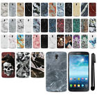 For Samsung Galaxy Mega 6.3 I527 I9200 I9205 Marble HARD Back Case Cover + Pen