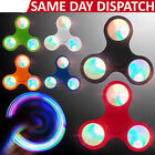 LED light Fidget Hand Spinner Torqbar Brass Finger Toy EDC Focus Gyro -Kids Gift