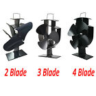 2 Blade 3 Blade 4 Blade Top Mini Heat Powered Wood Burning Log Burner Stove Fan