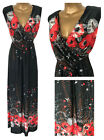 New Praslin Simply Be Maxi Dress Grey Red Plus Size 18 20 22 24 Floral Summer