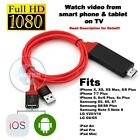 For iPHONE 7 6S 6 8 X Plus 5s SE 1080P HDMI HD TV DIGITAL AV CABLE RED*BLK*WHITE