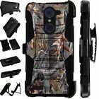 For Alcatel Huawei ZTE Rugged Phone Cover Holster Hybrid Case CAMO TREE LuxGuard