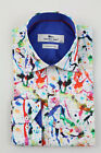 Claudio Lugli Spray Print Long Sleeve Shirt White Various Sizes CP6236