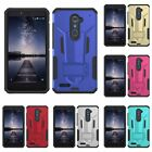For ZTE Max XL Blade X Max ZIZO Hybrid Future Armor Hard Case Cover Phone Stand