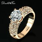 Woman's Cubic Zirconia Rose Gold Plated CZ Stone Ring