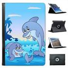Dolphin Jumping & Swimming by Desert Island Leather Case For iPad Mini & Retina