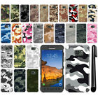 For Samsung Galaxy S7 Active G891 Camo Design HARD Back Case Phone Cover + Pen