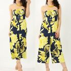 New's Womens Ladies Girls  PRINTED BANDEAU CULLOTTE Jumpsuit UK 8- 14