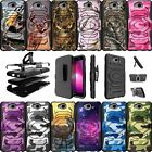 For LG Fiesta LTE, LG X Power 2 Holster Case Rugged  Belt Clip Stand  Camos