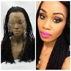 Hot Heat resistant Braiding Lace front wig Synthetic hair Black color 16-26Inch