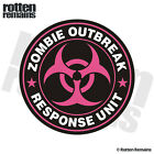 Zombie Outbreak Response Unit Pink Decal Control Team Vinyl Sticker EMV