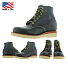 "Chippewa 6"" Mocc Toe Wedge Carpenter Work Boots Made in USA Wide Width"