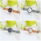 Wholesale Women Lady Chic Gold Silver White Black Alloy Crystal Watch Wristwatch