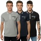 Rawcraft Mens Casual Short Sleeve Polo T Shirt Zip Collar Branded Tee Pocket Top