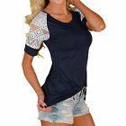 1PCS Women's Casual Short Sleeve Lace T-shirt Tops Blouse Ladies Tee Top