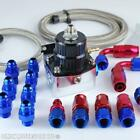 100 psi 7 Bar Adjustable Fuel Pressure Regulator Kit AN6 -6 FPR (Pick Colour)