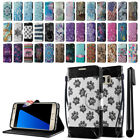 For Samsung Galaxy S8+ Plus G955 ID Card Wallet Cover Pouch Case Kickstand + Pen
