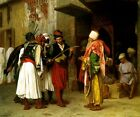 STREET VENDOR IN CAIRO MERCHANT OF SWORDS ORIENTALISM PAINTING BY GEROME REPRO
