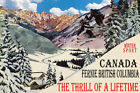 CANADA FERNIE BC SKI JUMPING THRILL OF A LIFETIME SKIING VINTAGE POSTER REPRO
