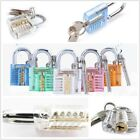 Transparent Visible Padlock Lock with Keys Cutaway Practice Training Skill Tool