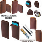For LG G4 H815 F500 VS986 Sleeve Genuine Real Leather POUCH Case Cover + Pen