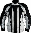 Weise Explorer Black Grey Mens Textile Waterproof Motorcycle Jacket New RRP £190