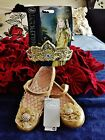 Disney Store Maleficent AURORA TIARA and AURORA SHOES Gold size 13/1 Sold Out