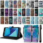 For Samsung Galaxy J7 2017/ J7V J727 ID Card Flip Wallet Cover Case Stand + Pen