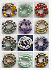 Mixed Gemstone Twisted shape Loose Bead 15.5 inch 15x8mm YD1028