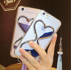 Dynamic Liquid Quicksand Chain bling Diamond TPU Back Case Cover For Cell Phones