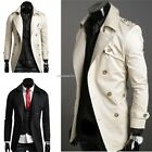 Double Breasted Overcoat Men Windbreak Coat Jacket Fashion Slim fit Winter02