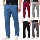 Stylish Men Casual Slim Fit Straight Leg Trousers Chino Skinny Solid Hot Pants